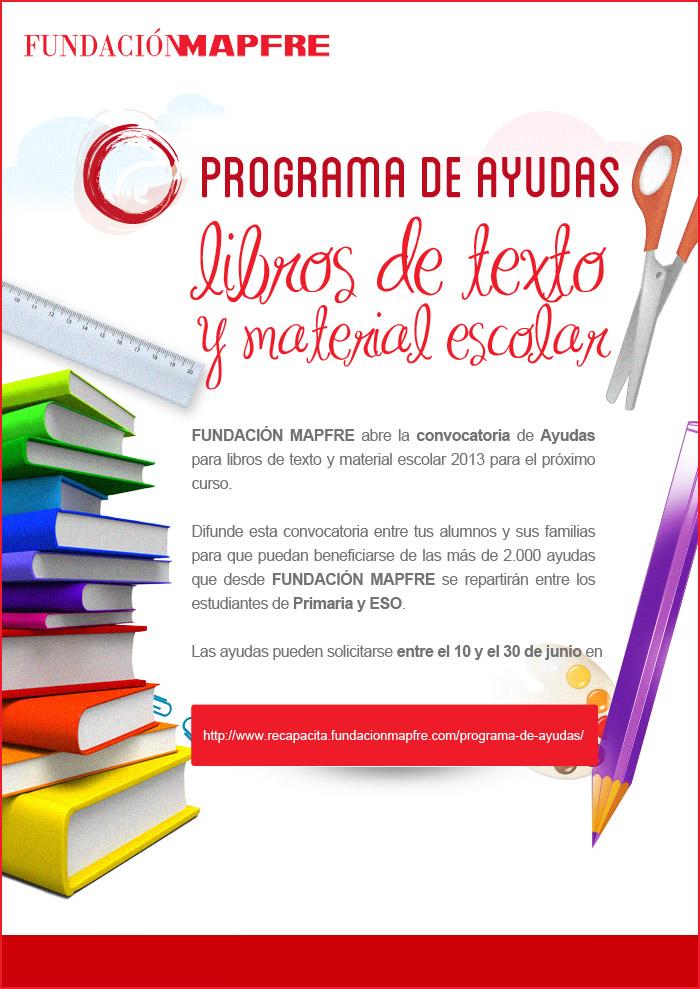 Programa de ayudas, libros de texto y material escolar