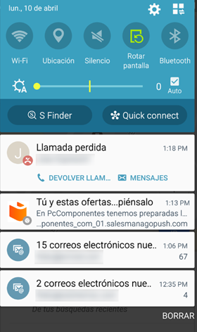 Notificaciones web push móvil