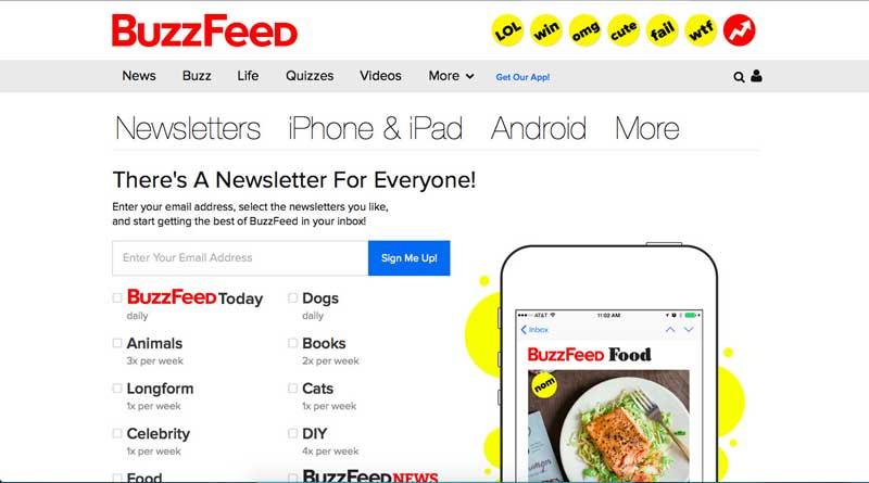 Seis buenos ejemplos de mensajes de bienvenida. Buzzfeed