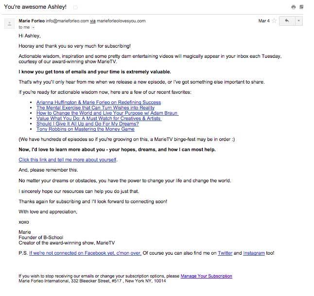 Seis buenos ejemplos de mensajes de bienvenida. Fedora