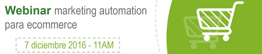 webinar marketing automation para ecommerce