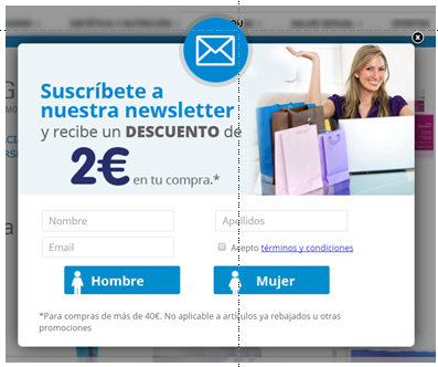 marketing automation anonimo popup