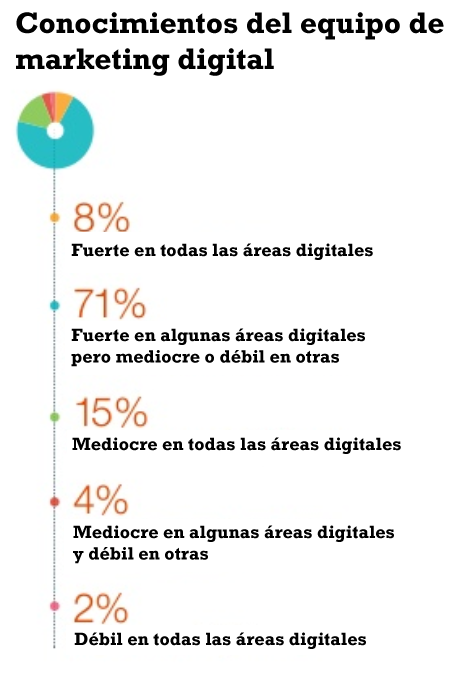conocimiento del equipo de marketing digital